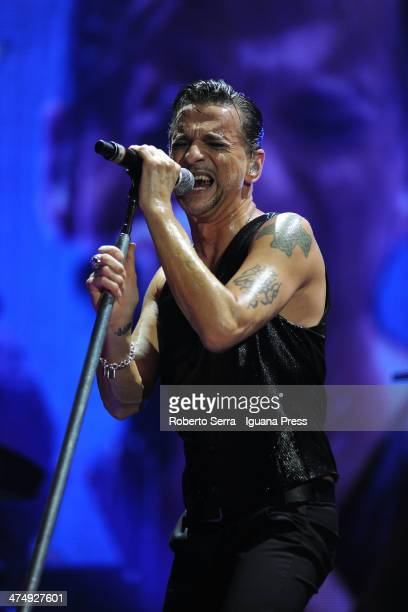 Dave Gahan lead the Depeche Mode in concert at Unipol Arena on February 22 2014 in Bologna Italy