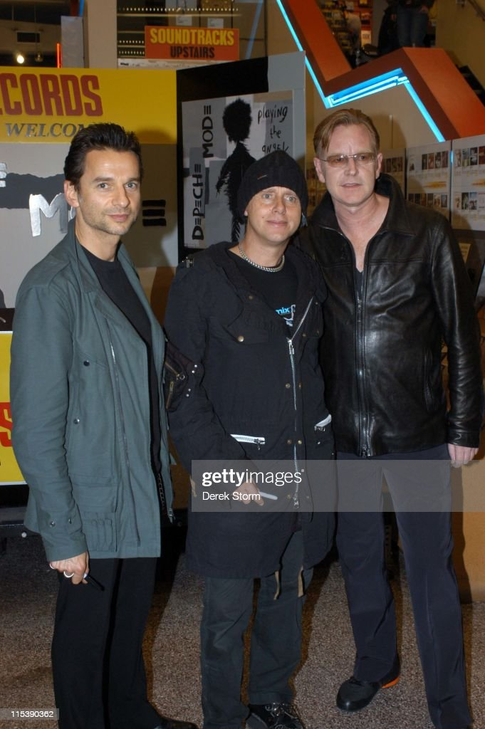 "Depeche Mode Launch Their Album ""Playing the Angel"" at Tower Records in New"