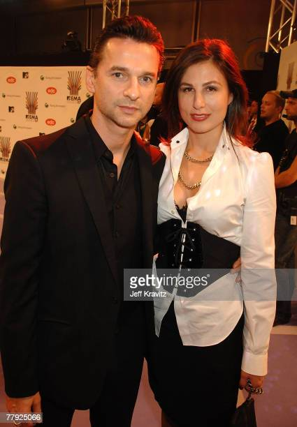 Dave Gahan of Depeche Mode and guest attends the 2007 MTV Europe Music Awards held at the Olympiahalle on November 1 2007 in Munich Germany