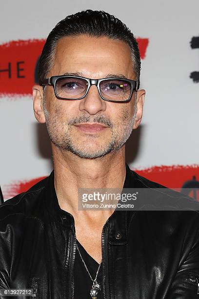 Dave Gahan of Depeche Mode attends a photocall to launch the Global Spirit Tour on October 11 2016 in Milan Italy