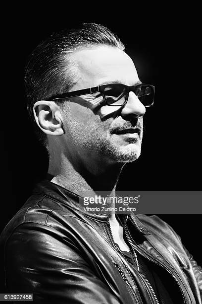 Dave Gahan of Depeche Mode attends a press conference to launch the Global Spirit Tour on October 11 2016 in Milan Italy