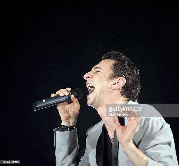 Dave Gahan of Depeche Mode during Depeche Mode 'Touring the Angel' Tour at Ahoy in Rotterdam March 26 2006 at Ahoy in Rotterdam Netherlands