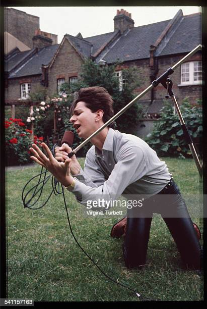 Dave Gahan of Depeche Mode in the grounds of Blackwing Studios London 17 June 1981