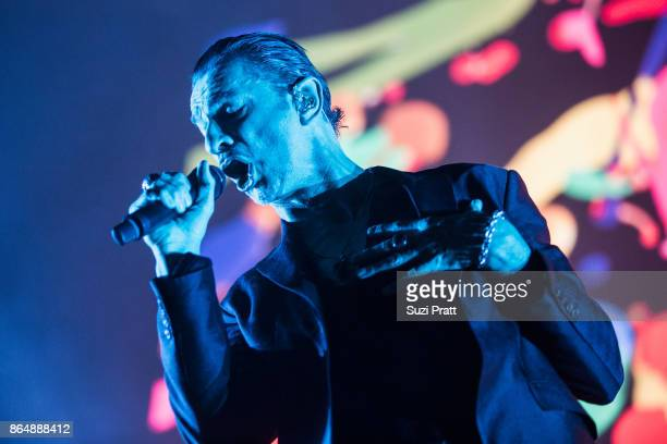 Dave Gahan of Depeche Mode perform during the band's 'Global Spirit Tour' at KeyArena on October 21 2017 in Seattle Washington