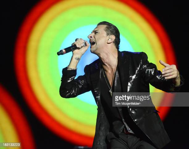 Dave Gahan of Depeche Mode performs as part of the Austin City Limits Music Festival Day One at Zilker Park on October 4 2013 in Austin Texas