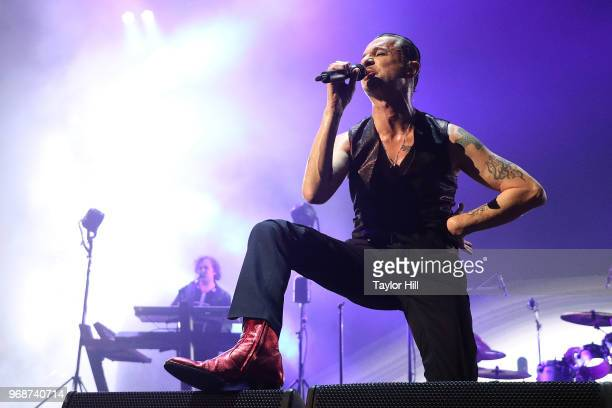 Dave Gahan of Depeche Mode performs at Barclays Center on June 6, 2018 in Brooklyn, New York.