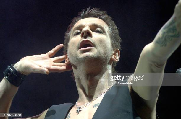 Dave Gahan of Depeche Mode performs during Coachella 2006 at the Empire Polo Fields on April 29, 2006 in Indio, California.
