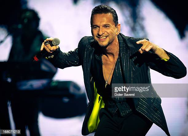 Dave Gahan of Depeche Mode performs during the first night of the Delta Machine European Tour 2013 at Stade Charles Ehrmann on May 4, 2013 in Nice,...