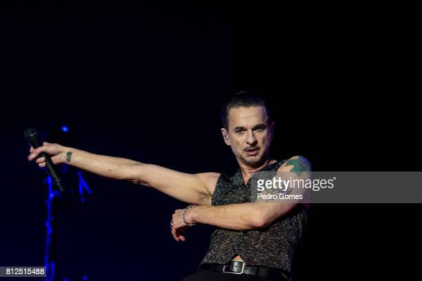 Dave Gahan of Depeche Mode performs on NOS stage at day 3 of NOS Alive festival on July 8, 2017 in Lisbon, Portugal.