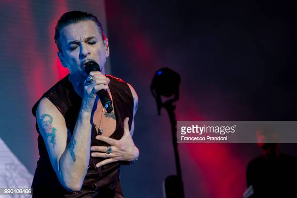Dave Gahan of Depeche mode performs on stage at Collisioni Festival on July 2 2018 in Barolo Cuneo Italy