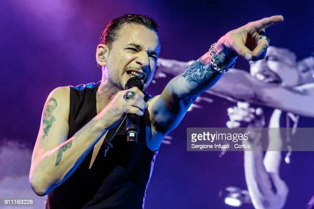 Dave Gahan of Depeche Mode performs on stage at Mediolanum Forum of Assago on January 27 2018 in Milan Italy