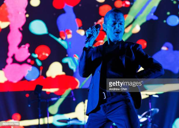 Dave Gahan of Depeche Mode performs on stage at Rogers Arena on October 25 2017 in Vancouver Canada