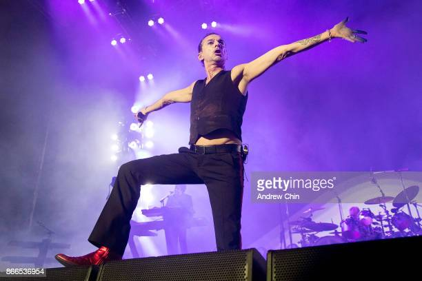 Dave Gahan of Depeche Mode performs on stage at Rogers Arena on October 25, 2017 in Vancouver, Canada.