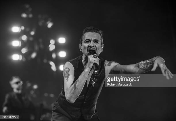 Dave Gahan of Depeche Mode performs on stage at the Palau Sant Jordi on December 7 2017 in Barcelona Spain