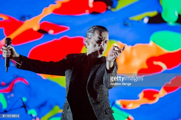 Dave Gahan of Depeche Mode performs on the NOS Alive stage during day 3 of NOS Alive on July 8, 2017 in Lisbon, Portugal.