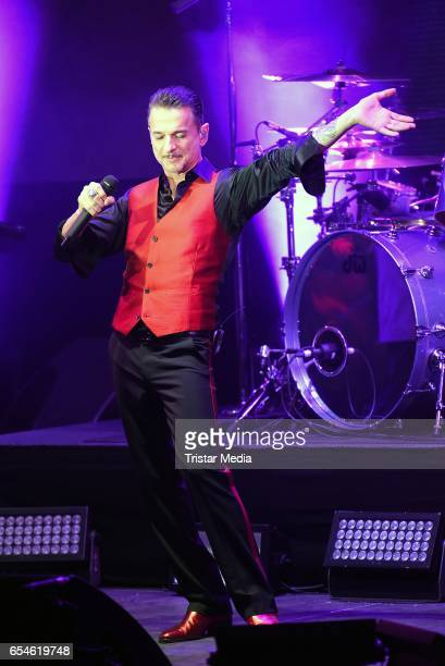 Dave Gahan of the band Depeche Mode performs at Telekom Street Gigs on March 17 2017 in Berlin Germany