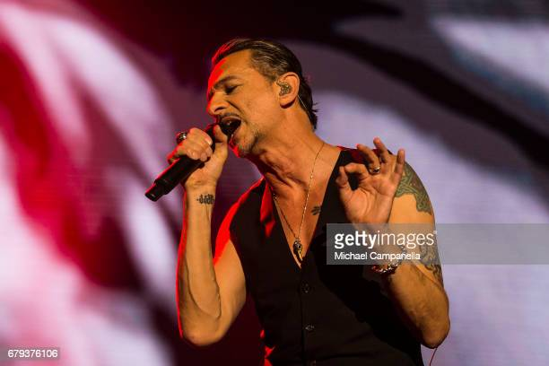 Dave Gahan of the band Depeche Mode performs in concert at Friends Arena during their Global Spirit Tour on May 5, 2017 in Stockholm, Sweden.