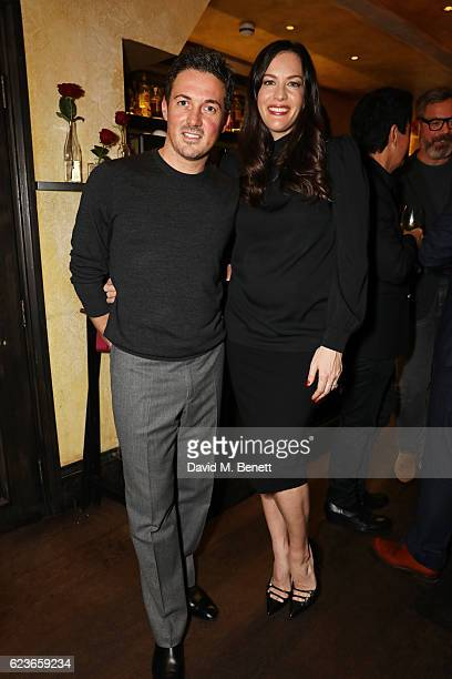Dave Gardner and Liv Tyler attend the Kent Curwen dinner with Mr Porter at Little Social on November 16 2016 in London England