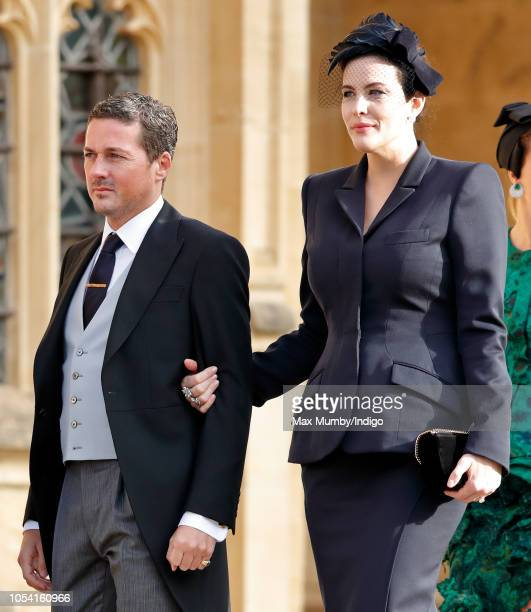 Dave Gardner and Liv Tyler attend the wedding of Princess Eugenie of York and Jack Brooksbank at St George's Chapel on October 12 2018 in Windsor...