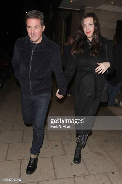 Dave Gardner and Liv Tyler attending Kate Moss' birthday party at China Tang restaurant on January 15 2019 in London England