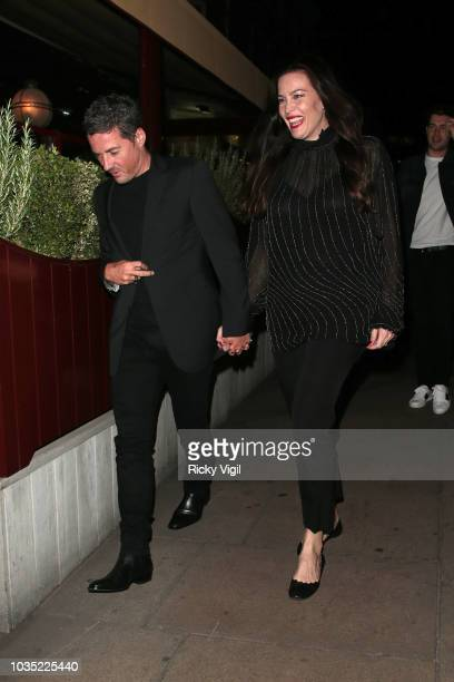 Dave Gardner and Liv Tyler seen attending LOVE Magazine party at No 5 Hertford Street during London Fashion Week September 2018 on September 17 2018...