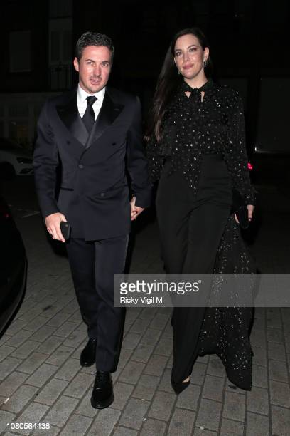 Dave Gardner and Liv Tyler seen attending Miuccia Prada party at The Scotch on December 10 2018 in London England
