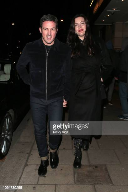 Dave Gardner and Liv Tyler seen celebrating Kate Moss Birthday party at China Tang in Mayfair on January 15 2019 in London England