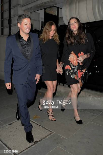 Dave Gardner, Stella McCartney and Liv Tyler seen at Loulou's club for Dave Gardner's birthday party, which is celebrated at the same venue as...
