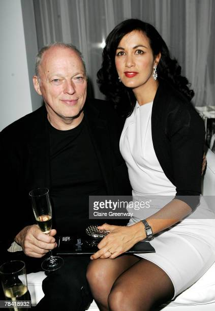 Dave Gilmour and his wife Polly Samson attend the drinks reception prior to the VIP performance of 'Night of The Snow Queen' at St Martin's Lane...