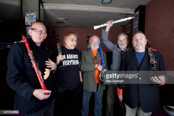 Dave Glasson Rodney Slater Sam Spoons Roger Ruskin Spear and Andy Roberts of Bonzo Dog DooDah Band pose for a portrait at Brudenell Social Club on...