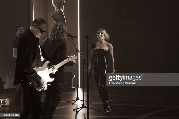 Dave Gleeson and Natalie Bassingthwaighte perform during the 7th AACTA Awards Presented by Foxtel at The Star on December 6 2017 in Sydney Australia