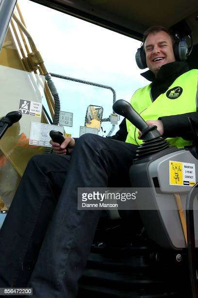 Dave Goosselink of Dunedin poses for a photo at Dig This on October 2 2017 in Invercargill New Zealand Guests are given the opportunity to operate...