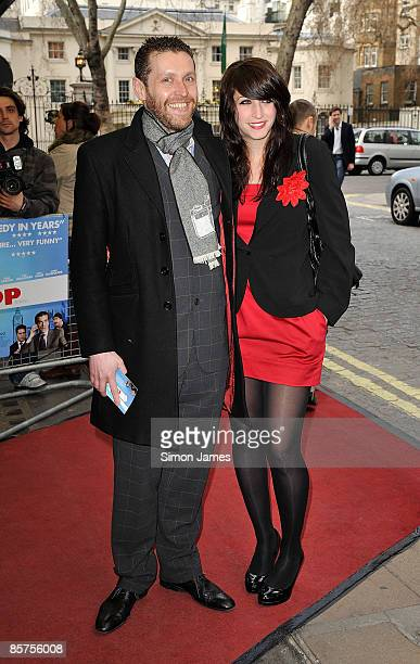 Dave Gorman and guest attend the gala premiere of 'In The Loop' at Curzon Mayfair on April 1 2009 in London England