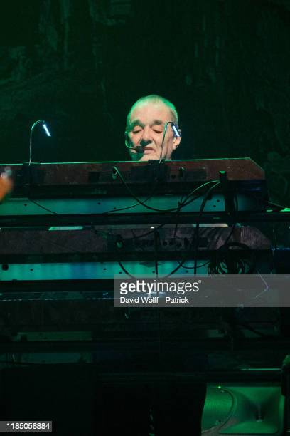 Dave Greenfield from The Stranglers performs at L'Olympia on November 27 2019 in Paris France
