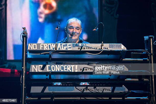 Dave Greenfield of The Stranglers performs at L'Olympia on April 7 2014 in Paris France