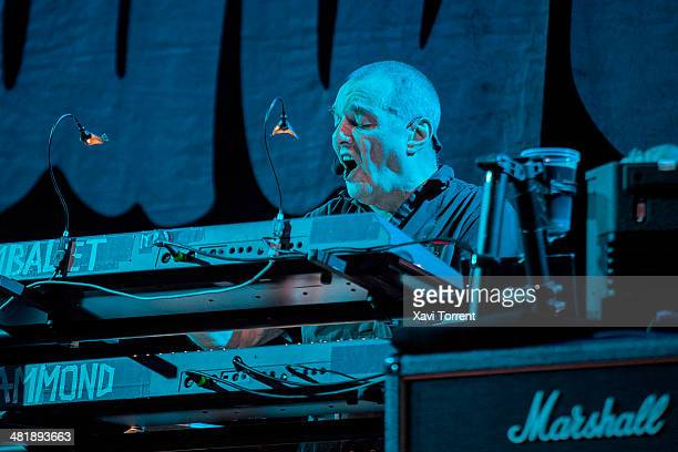 Dave Greenfield of The Stranglers performs in concert at Sala Barts on April 1 2014 in Barcelona Spain