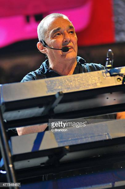 Dave Greenfield of The Stranglers performs on stage at Eventim Apollo Hammersmith on March 8 2014 in London United Kingdom
