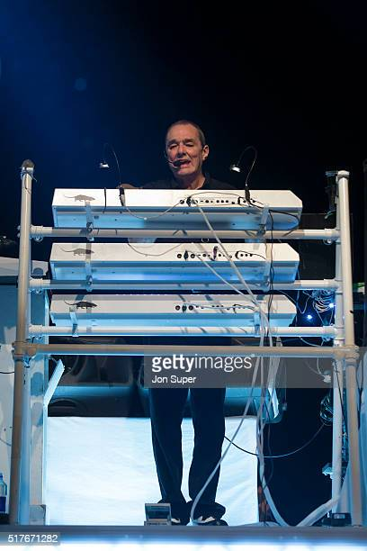 Dave Greenfield of The Stranglers performs on stage at O2 Apollo Manchester on March 26 2016 in Manchester United Kingdom