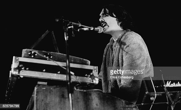 Dave Greenfield of The Stranglers performs on stage at The Rainbow Theatre Finsbury Park London United Kingdom January 30th 1977