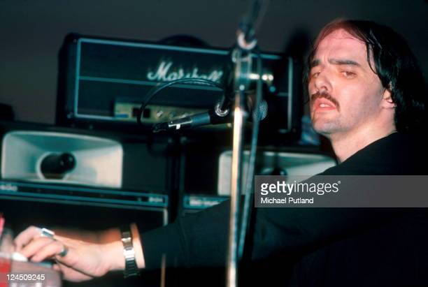 Dave Greenfield of The Stranglers performs on stage, Philadelphia, 16th March 1978.