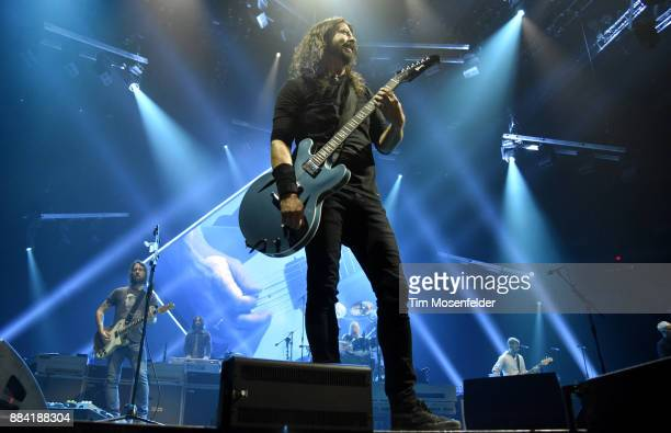 Dave Grohl and Foo Fighters perform in support of the band's Concrete and Gold release at Save Mart Center on December 1 2017 in Fresno California