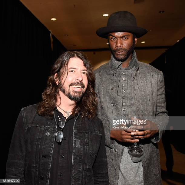 Dave Grohl and Gary Clark Jr attend MusiCares Person of the Year honoring Tom Petty at the Los Angeles Convention Center on February 10 2017 in Los...
