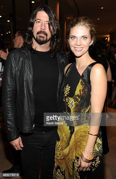 Dave Grohl and Jordyn Blum attend the 56th annual GRAMMY Awards PreGRAMMY Gala and Salute to Industry Icons honoring Lucian Grainge at The Beverly...