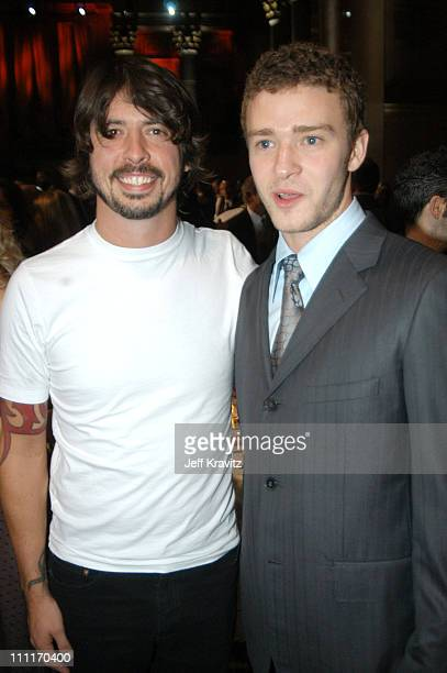 Dave Grohl and Justin Timberlake during Spike TV Presents 2003 GQ Men of the Year Awards After Party at The Regent Wall Street in New York City New...