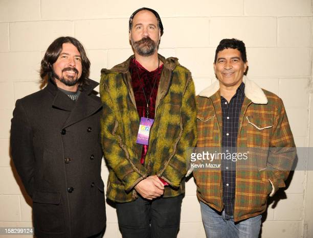 Dave Grohl and Krist Novoselic at the 121212 The Concert For Sandy Relief at Madison Square Garden on December 11 2012 in New York City