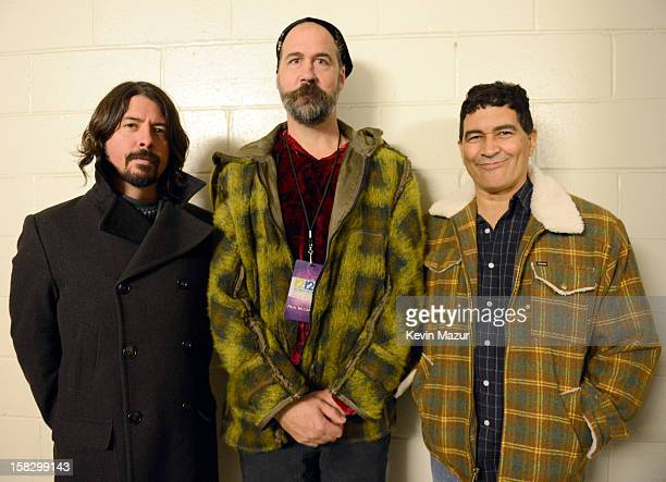 Dave Grohl and Krist Novoselic at the 12-12-12 The Concert For Sandy Relief at Madison Square Garden on December 11, 2012 in New York City.