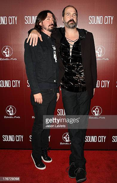 Dave Grohl and Krist Novoselic of Nirvana attend the premiere of 'Sound City' at ArcLight Cinemas Cinerama Dome on January 31 2013 in Hollywood...