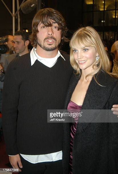 Dave Grohl and wife Jordyn Blum during Spike TV Presents 2003 GQ Men of the Year Awards Arrivals at The Regent Wall Street in New York City New York...
