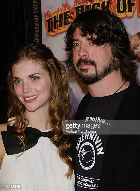 Dave Grohl and wife Jordyn Blum during Tenacious D in the Pick of Destiny Los Angeles Premiere Arrivals at Grauman's Chinese Theatre in Hollywood...