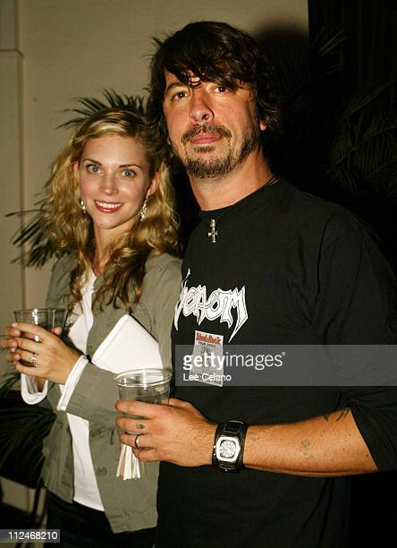 Dave Grohl and wife Jordyn during School of Rock Premiere After Party at Cinerama Dome in Hollywood California United States